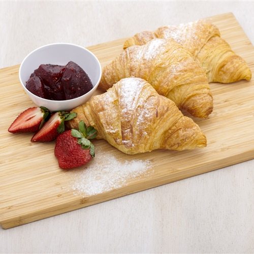 Plain croissant with Yarra Valley jams